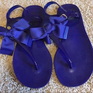 BCBG Jelly Sandals with Bow